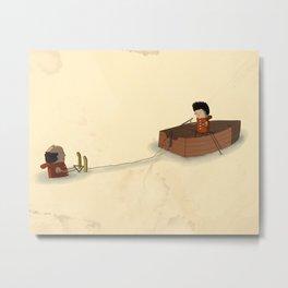 Waterskiing Metal Print