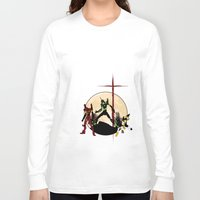 evangelion Long Sleeve T-shirts featuring Neon Genesis Evangelion - Hill Top by kamonkey