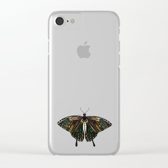 swallowtail butterfly dusk Clear iPhone Case