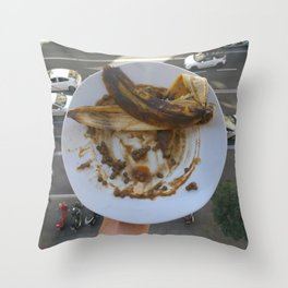 lentejas y plátano Throw Pillow