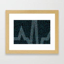 Blue Pulse Framed Art Print