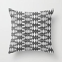 J Pattern Throw Pillow