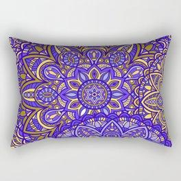 Yellow & Blue Mandala Rectangular Pillow