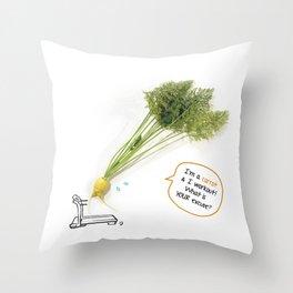 I'm A Carrot & I Workout! Throw Pillow