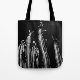 Cactus - black and white Tote Bag