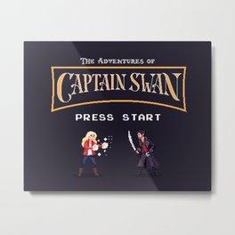 The Adventures of Captain Swan Metal Print