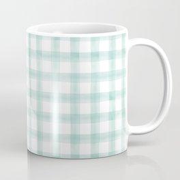 watercolor plaid -  spring teal Coffee Mug