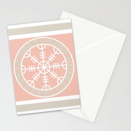 Icelandic Magical Stave - The helm of awe Stationery Cards