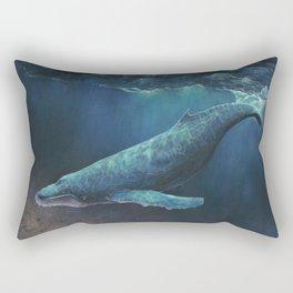 Night Diving Rectangular Pillow