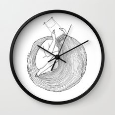 Post Surf Comb-Out Wall Clock