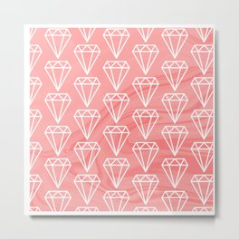 Diamond on marble pattern Metal Print