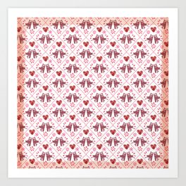 Quilted Milongueros - a Tango Gitano Pattern  Art Print