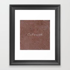 Cabernet Wine Red Travertine - Rustic - Rustic Glam Framed Art Print
