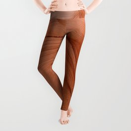 Rust Calming Abstract Painting Leggings