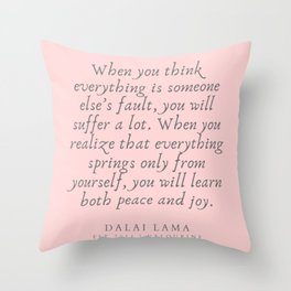 128   | Dalai Lama Quotes 190504 Throw Pillow
