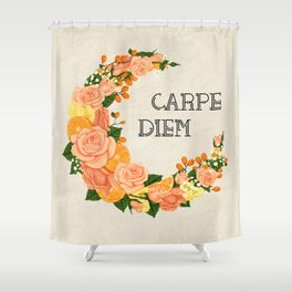 Crescent bloom | Oranges and roses_w Shower Curtain