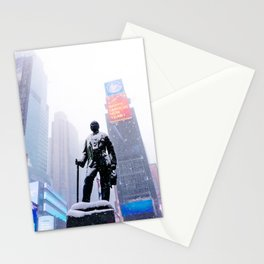 Snowy Times Square, NYC Stationery Cards