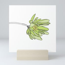 Single Flower with a Long Stem // Monochromatic Petals Mini Art Print