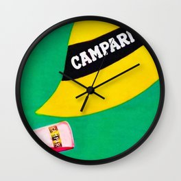 Extremely rare Campari Aperitif 'l aperitivo bullet' Advertisement Print Wall Clock