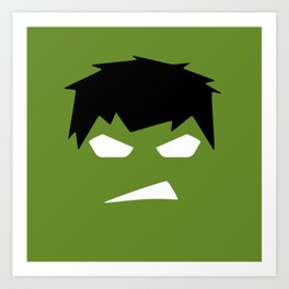 The Hulk Superhero Art Print