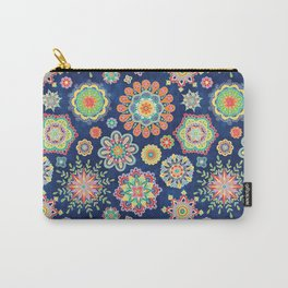 Folky Flora-blue Carry-All Pouch