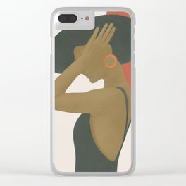 Lady in a Black Dress Clear iPhone Case