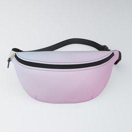 Pastel Light Cyan Blue and Light Pink Gradient Ombré  Fanny Pack