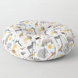 Safari Savanna Multiple Animals Floor Pillow