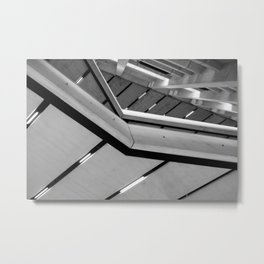 Abstract Architectural Angles | London Gallery | Black and White Metal Print