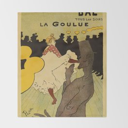 Paris nightlife 1891 Toulouse Lautrec Throw Blanket