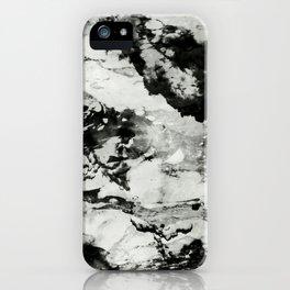 White black marble iPhone Case