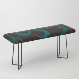 black and turquoise abstract Bench