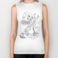 banjo Biker Tanks featuring Banjo Visions by The Pearly Owl
