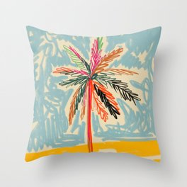 VACATION PALM TREE Throw Pillow