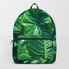 Papua New Guinea Giant Vibrant Green Taro Leaves Backpack