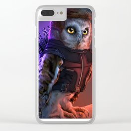 the Owlvengers - hawk eye owl Clear iPhone Case