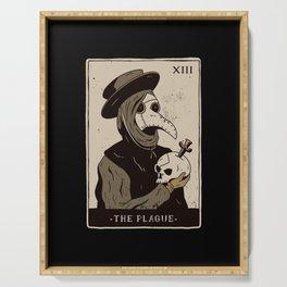 Tee design show a Tarot card with a Plague Doctor Serving Tray