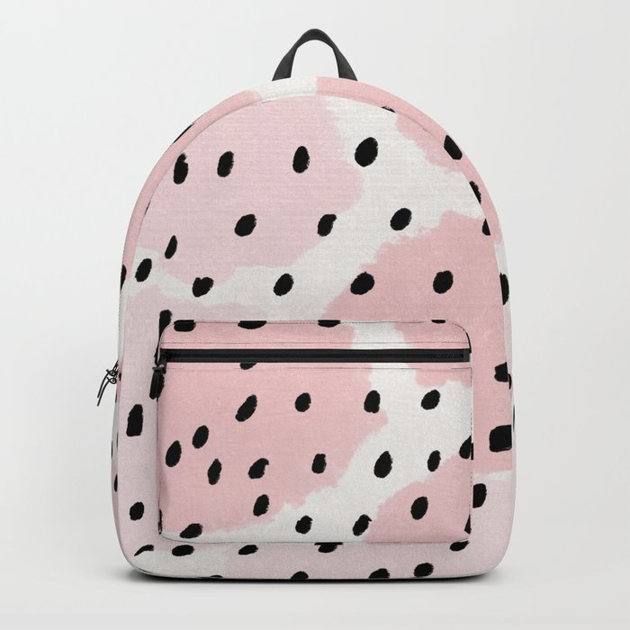 Pink Dots Pattern Backpack