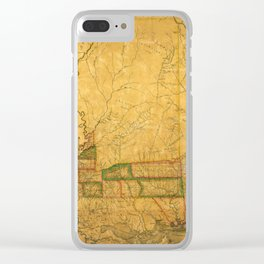 Map Of Mississippi 1820 Clear iPhone Case