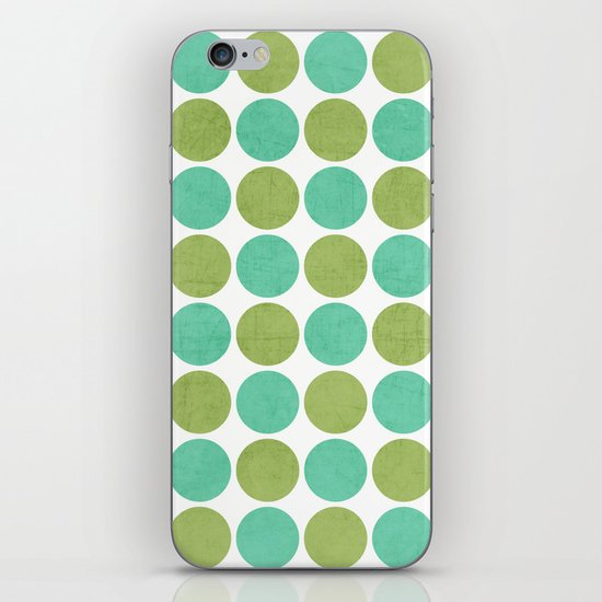 green and mint dots iPhone & iPod Skin