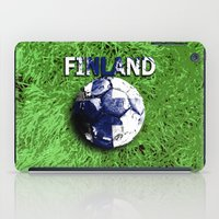 finland iPad Cases featuring Old football (Finland) by seb mcnulty