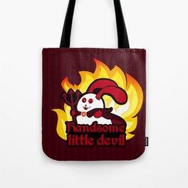 Ernest the Blue Bunny | Halloween devil Tote Bag