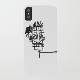 A vectorised and reworked Basquiat notebook sketch iPhone Case