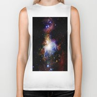 nebula Biker Tanks featuring Orion NebulA Colorful Full Image by 2sweet4words Designs