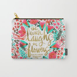 The Earth Laughs in Flowers – Pink & Gold Carry-All Pouch