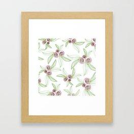 zipper floral Framed Art Print
