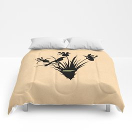 Tennessee - State Papercut Print Comforters