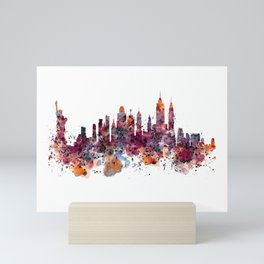 New York Skyline Silhouette Mini Art Print
