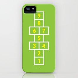 Hopscotch Green iPhone Case
