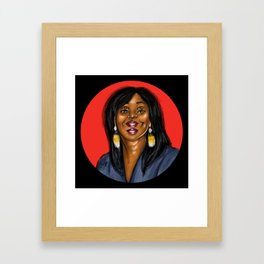 Tripy Portrait Framed Art Print
